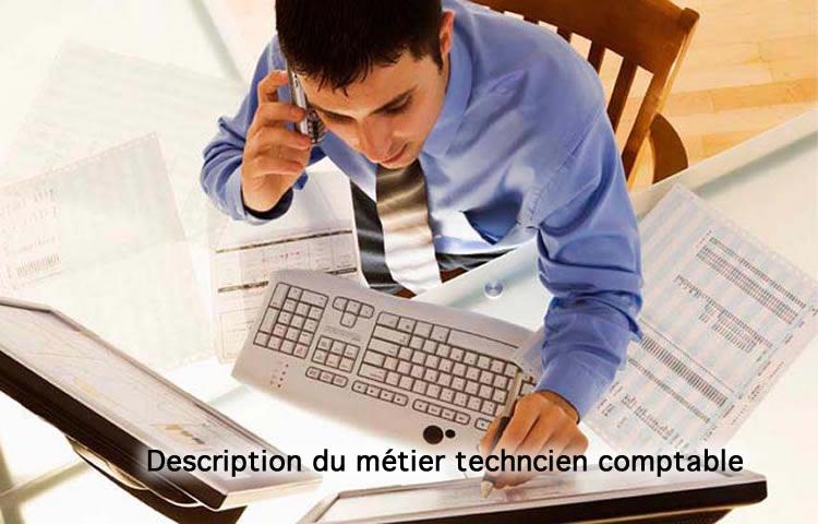 Technicien comptable: description du poste